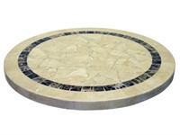 "ATCOSTONE 28"" Table Top Round Beige -Qty 6"