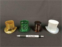 Lot of Glass Top Hats