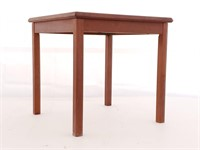 Teak and Tile Top Side Table