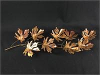 Oak Leaf Branch Copper/Brass Wall Sculpture