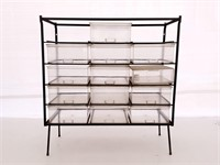 Metal Frame Stage Shelf with Drawers