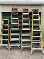 Ladders: (1) 6' & (3) 8'