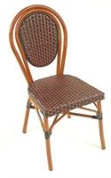 Parisienne Side Chairs - Red/Black Weaving -Qty 12