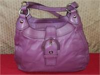 Coach Purple Leather Hobo Bag