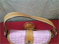 Coach Pink/Brown Medium Sized Bag
