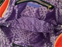Carol Brodie Red Leather Tote Bag