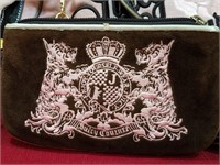 Juicy Couture Pink Velvet Purse & Keychain Wallet
