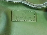 Joy Mangano New York Green Leather Zippered Tote