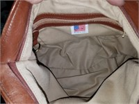 Stone Mountain Geniune Leather Light Brown Bag