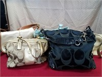 (5) Coach Purses Grouping