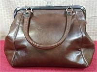 1960's Ruth Saltz Brown Leather Bag