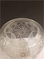 Handcut lead crystal vase