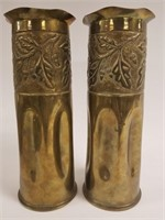 WWI Trench art vases