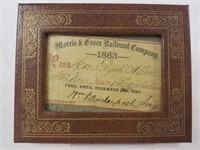 1863 Morris & Essex Railroad pass