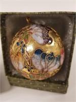 Cloisonné ornament & Cork carving