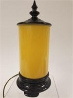 Yellow glass night light