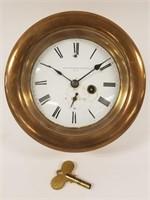 Seth Thomas brass porthole clock