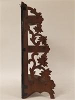 Wood corner shelf