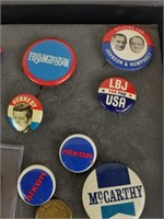 Lot of political items, tokens and more