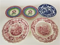 Lot of 5 plates