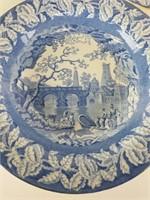 3 Clews Staffordshire blue & white bowls