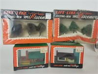 Large lot of N gauge train models