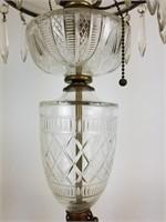 Cut glass parlor lamp