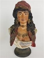 Gypsy woman bust