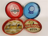 Lot of 4 beer serving trays