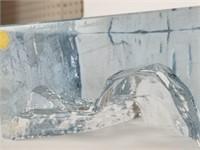 Strömbergshyttan etched art glass owl