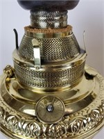 Two brass oil lamp bases