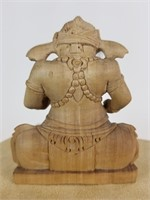 Asian carved wood elephant