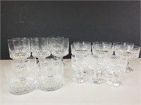 22 pieces of Orrefors cystal glassware
