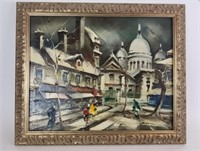 Falix signed oil on canvas street scene