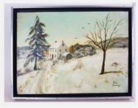 Alice Snavely signed oil on canvas