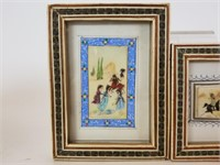 Lot of 3 Middle Eastern art on celluloid