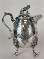 Lot of 4 silverplate serving pieces