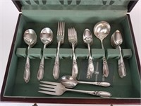 Community Silverplate White Orchid flatware set