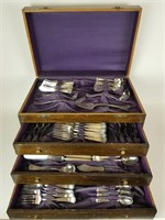 Rogers silverplate flatware set