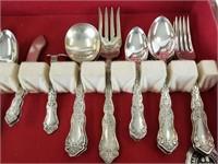 Wm Rogers silver plate flatware set