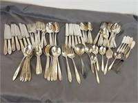 Community Silver Plate flatware lot
