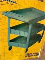 "38""x26"" 3 Shelf Service Cart"
