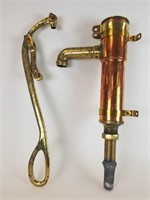Brass and copper hand pump