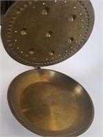 Vintage brass bed warmer