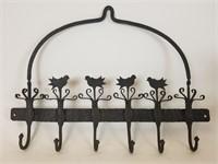 Wrought iron decorative hooks