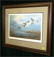 """Print, """"Wind and Water"""" 84/1000 signed A. Taylor,"""