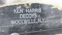 3- Ken Harris bluebill, stamped on bottom,