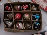 Vintage Christmas Lot in Clear Bin