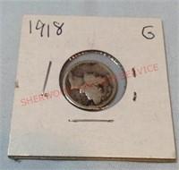 1918 G Mercury Dime