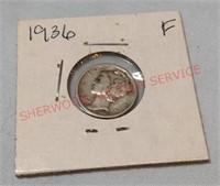 1936 F Mercury Dime